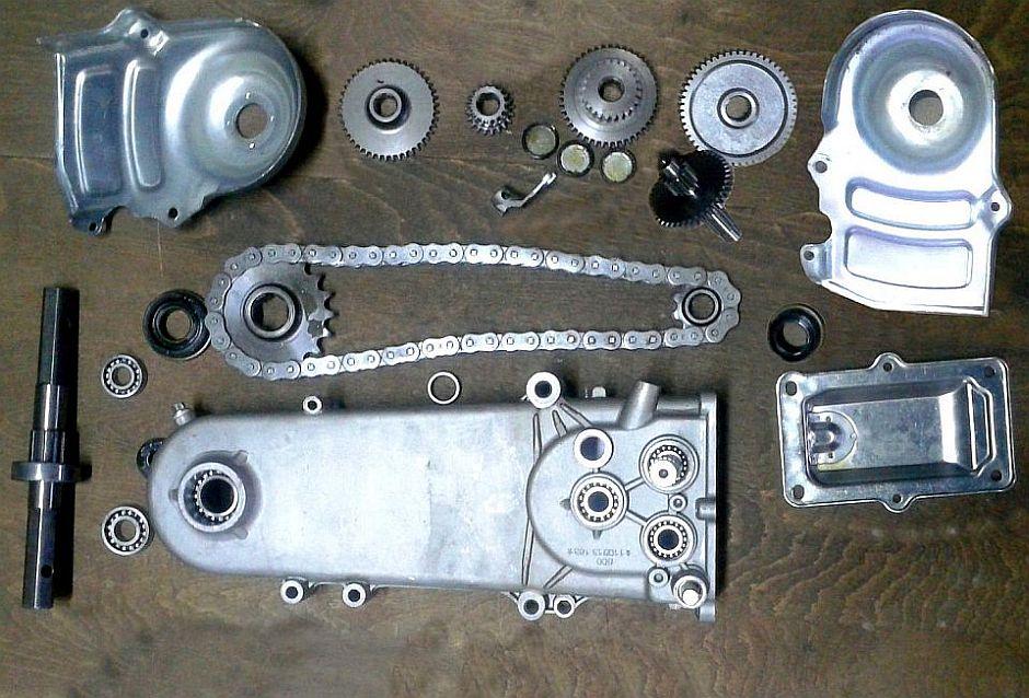 Parti componente transmisie motocultivator ROTAKT RO500 - partea reductoare